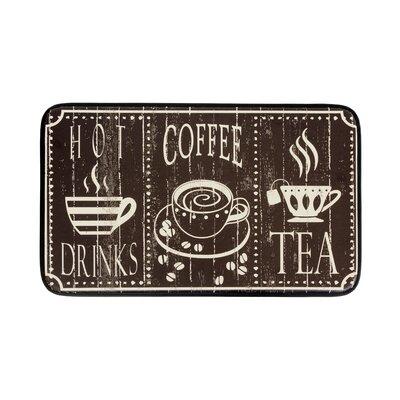 Hot Coffee Anti-fatigue Kitchen Mat