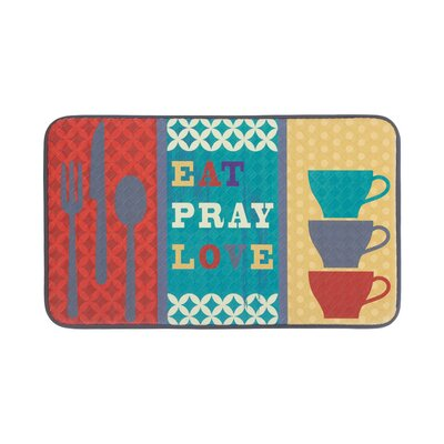Eat Pray Love Anti-Fatigue Kitchen Mat