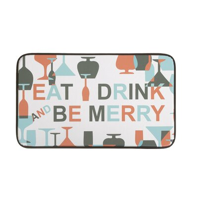 Be Merry Wine Anti-Fatigue Kitchen Mat
