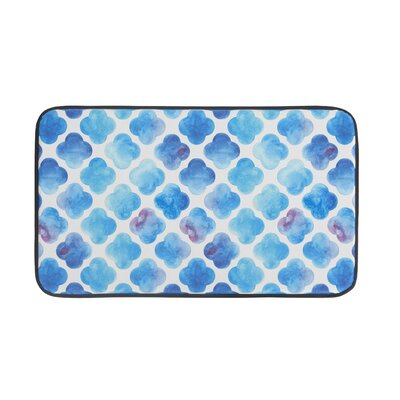 Watercolor Clover Anti-Fatigue Kitchen Mat