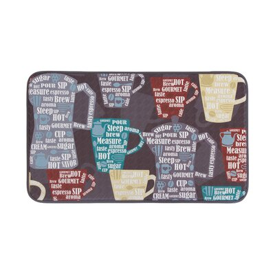 Fun Coffee Anti-Fatigue Kitchen Mat