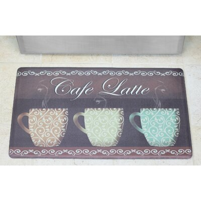 Cardiff Caf� Latte Anti-Fatigue Gelness Comfort Kitchen Mat