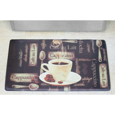 Cardiff Caf� Au Lait Anti-Fatigue Gelness Comfort Kitchen Mat