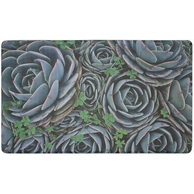 JB Clover Succulents Gelness Kitchen Mat