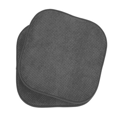 Bon Appetite Dining Chair Cushion Fabric: Dark Gray