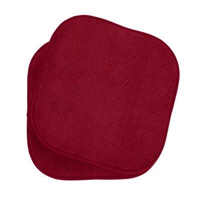 Bon Appetite Dining Chair Cushion Fabric: Barn Red