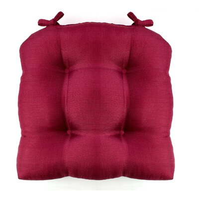 Madison Chair Cushion Fabric: Burgundy