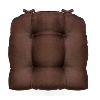 Madison Chair Cushion Fabric: Chocolate