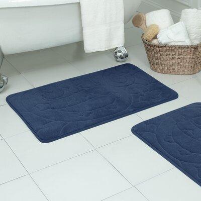 Lynnhaven Micro Plush Memory Foam Bath Rug