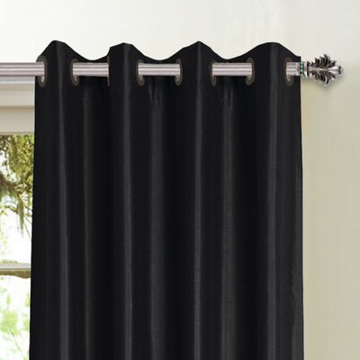 Window Elements Jane Faux Silk Grommet Curtain Panel - Color: Silver at Sears.com