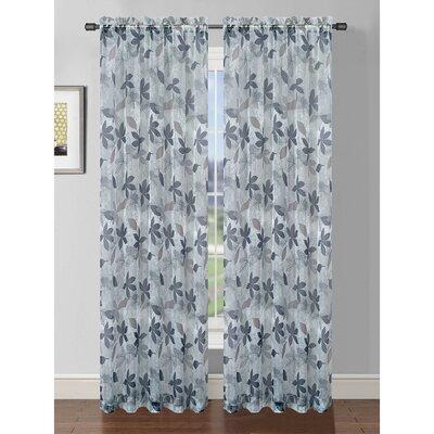 Window Elements Ashville Printed Rod Pocket Sheer Curtain Panel - Color: Grey at Sears.com