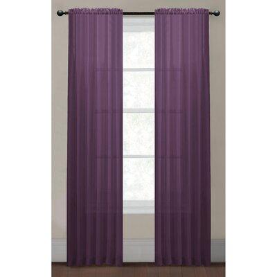 "Window Elements Diamond Curtain Panel - Size: 63"" H x 55"" W, Color: Plum"