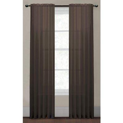Window Elements Diamond Single Curtain Panel - Color: Lilac Size: 95