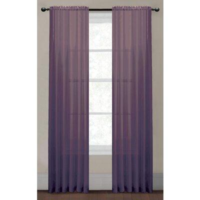 Window Elements Diamond Single Curtain Panel - Color: Mocha Size: 84