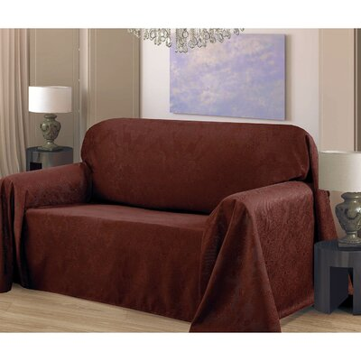 Medallion Loveseat Slip Cover Upholstery: Chocolate