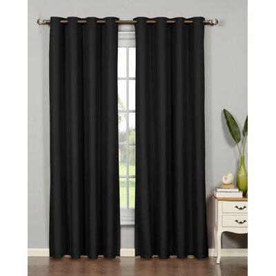 Bella Luna Emma Extra Wide Solid Room Darkening Thermal Grommet Curtain Panels