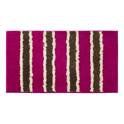 Microfiber Ace Bath Mat Color: Fuchsia, Size: 18 x 30