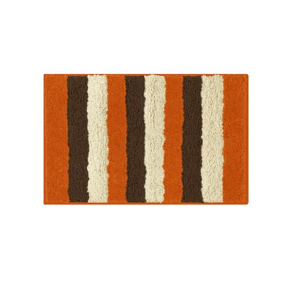 Microfiber Radella Bath Mat Size: 16 x 24, Color: Orange