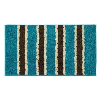 Microfiber Ace Bath Mat Color: Teal, Size: 18 x 30