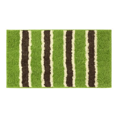 Microfiber Ace Bath Mat Color: Lime, Size: 18 x 30