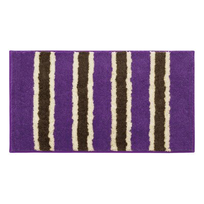 Microfiber Ace Bath Mat Color: Purple, Size: 18 x 30