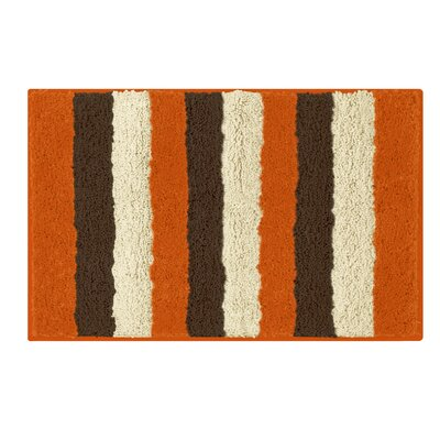 Microfiber Radella Bath Mat Color: Orange, Size: 18 x 30