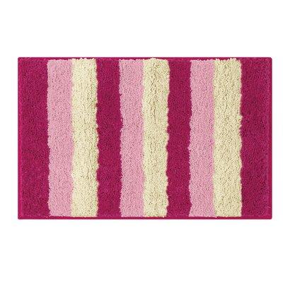Microfiber Radella Bath Mat Color: Fuchsia, Size: 18 x 30