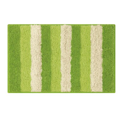 Microfiber Radella Bath Mat Size: 18 x 30, Color: Lime