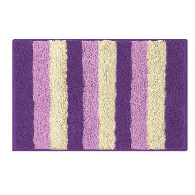 Microfiber Radella Bath Mat Size: 18 x 30, Color: Purple