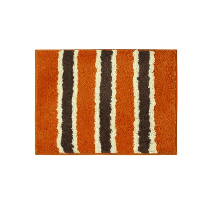 Microfiber Ace Bath Mat Size: 16 x 24, Color: Orange