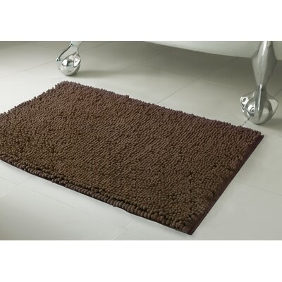 Chenille Plush Large 2 Piece Bath Mat Set Color: Mocha
