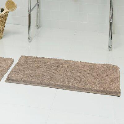 Chenille Plush 2 Piece Bath Mat Set Color: Linen