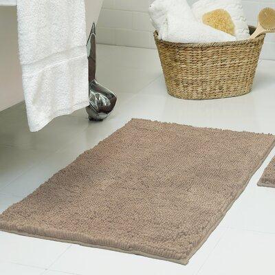 Chenille Plush Bath Mat Size: 21 x 34, Color: Linen