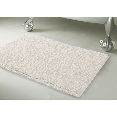 Garlyn Plush Bath Mat Size: 17 x 24, Color: White