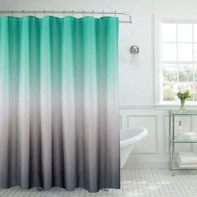 Ombre Shower Curtain Color: Turquoise/Gray