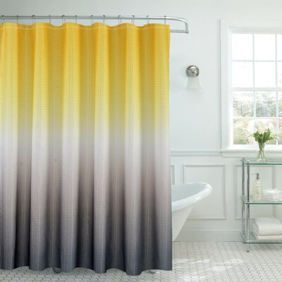 Ombre Shower Curtain Color: Yellow/Gray