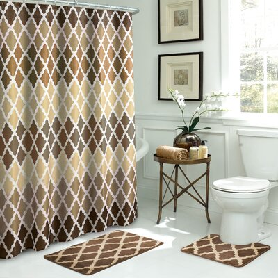 Gateway Lattice Shower Curtain Set