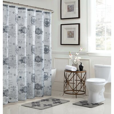 Fleur De Lis Shower Curtain Set