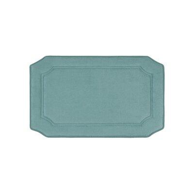 Walden Premium Micro Plush Memory Foam Bath Mat Size: 17 W x 24 L, Color: Marine Blue