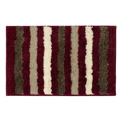 "Bath Studio Dmitri Microfiber Bath Rug - Size: 18"" x 30"", Color: Barn Red"