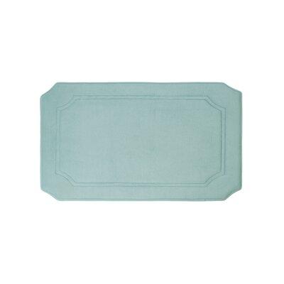 Walden Premium Micro Plush Memory Foam Bath Mat Size: 17 W x 24 L, Color: Aqua