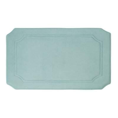 Walden Premium Micro Plush Memory Foam Bath Mat Color: Aqua, Size: 20 W x 32 L