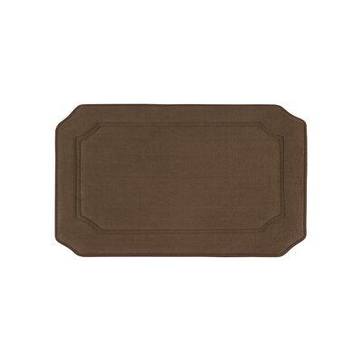 Walden Premium Micro Plush Memory Foam Bath Mat Size: 17 W x 24 L, Color: Mocha