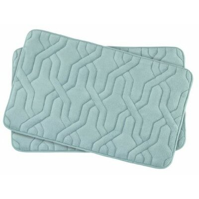 Drona Small Premium Micro Plush Memory Foam Bath Mat Set Color: Ivory