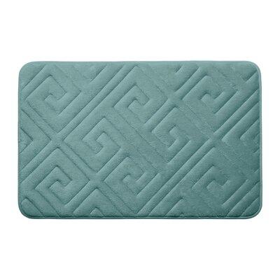 Caicos Premium Micro Plush Memory Foam Bath Mat Color: Marine Blue, Size: 17 L x 24 W