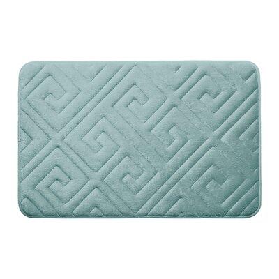 Caicos Premium Micro Plush Memory Foam Bath Mat Color: Aqua, Size: 17 L x 24 W