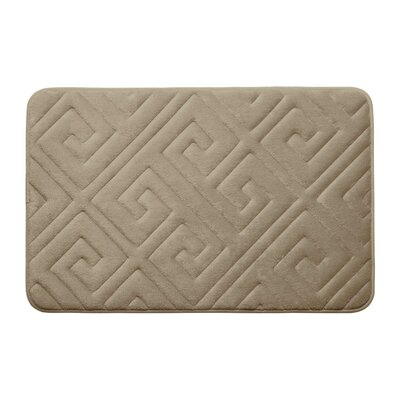 Caicos Premium Micro Plush Memory Foam Bath Mat Color: Linen, Size: 17 L x 24 W
