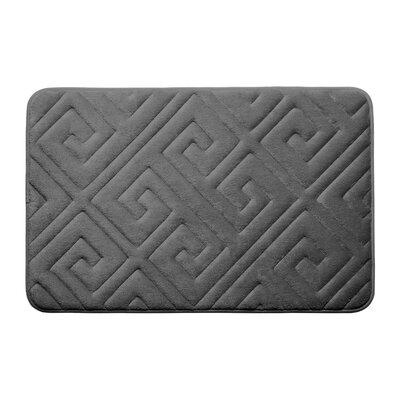 Caicos Premium Micro Plush Memory Foam Bath Mat Color: Dark Gray, Size: 17 L x 24 W
