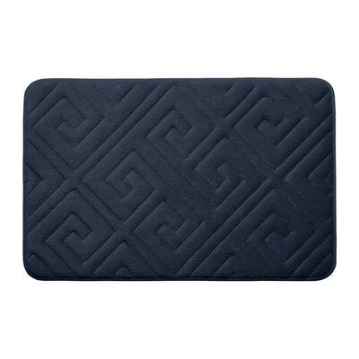 Caicos Premium Micro Plush Memory Foam Bath Mat Color: Indigo, Size: 17 L x 24 W