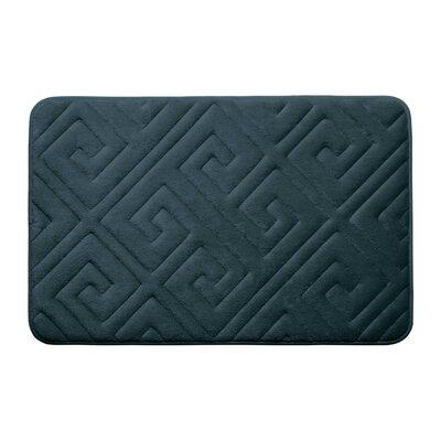 Caicos Premium Micro Plush Memory Foam Bath Mat Color: Slate Teal, Size: 17 L x 24 W